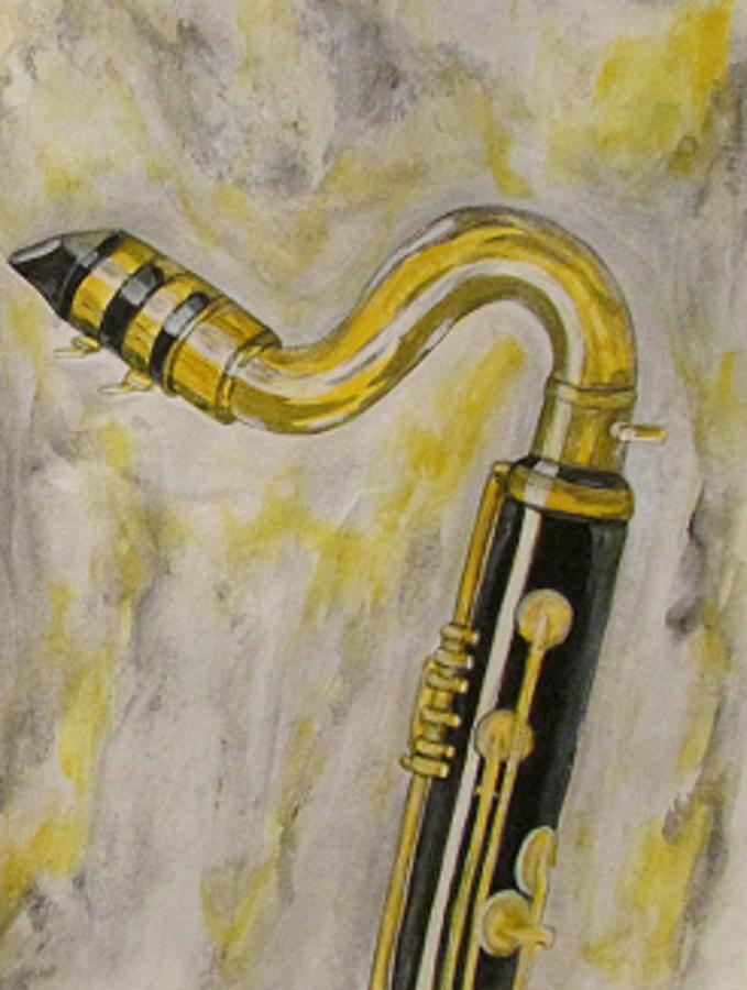 679x900 Bass Clarinet 1 Painting By Katrina Parker Williams