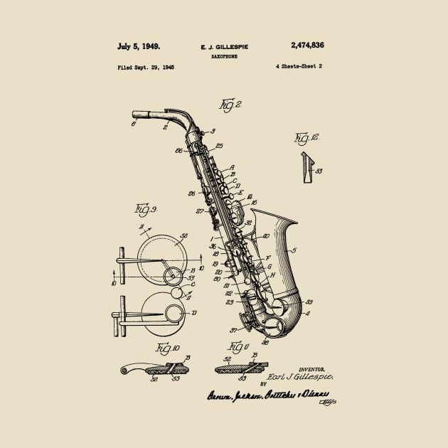 630x630 Saxophone Patent Drawing 1949