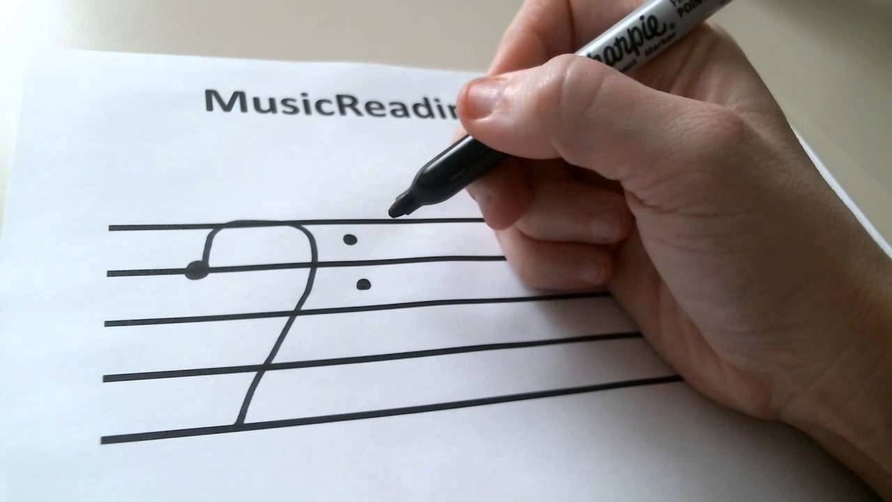 1280x720 How To Draw A Bass Clef Sign