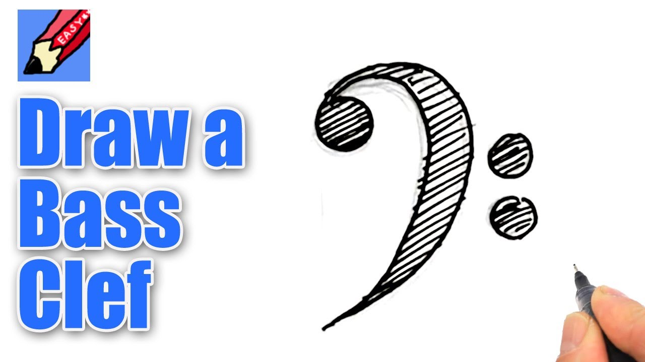 1280x720 How To Draw A Bass Clef Real Easy