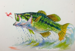 300x203 Largemouth Bass Artwork Paintings, Drawings, Sketches Amp Computer