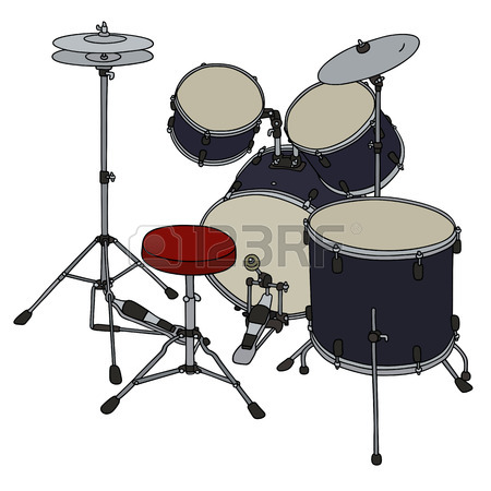 450x450 Hand Drawing Of A Red Percussion Set Royalty Free Cliparts