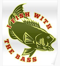 210x230 Bass Fishing Drawing Posters Redbubble