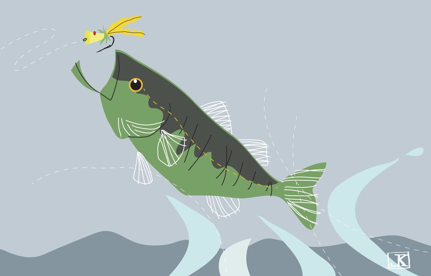 Bass Fishing Drawing at GetDrawings.com   Free for personal use Bass ...