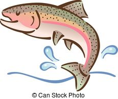 231x194 Jumping Fish. Jumping Bass Fish Outline Illustration Clipart