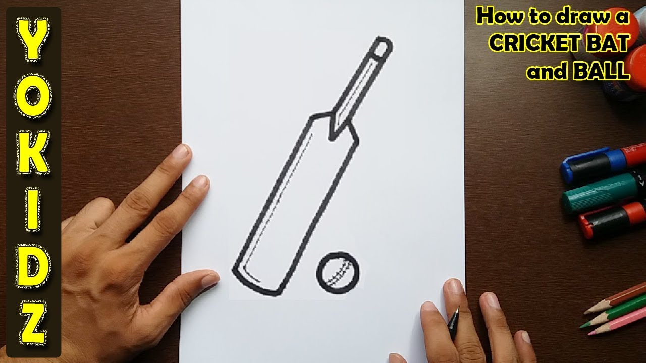 1280x720 How To Draw A Cricket Bat And Ball