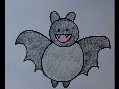 480x360 Draw And Color A Bat! How To Draw A Cute Cartoon Bat Easy