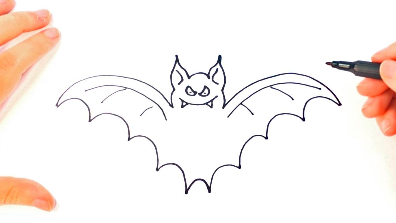 1280x720 How To Draw A Bat Bat Easy Draw Tutorial