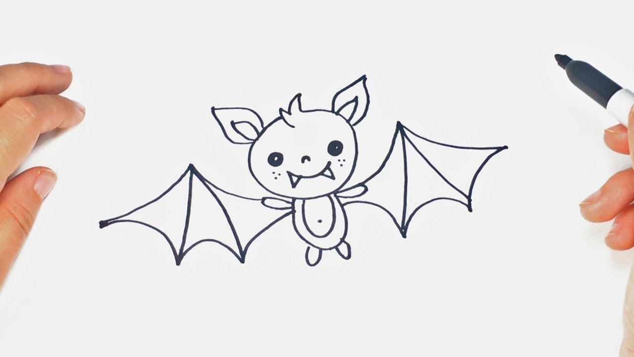 1280x720 How To Draw A Bat Step By Step Bat Drawing Lesson