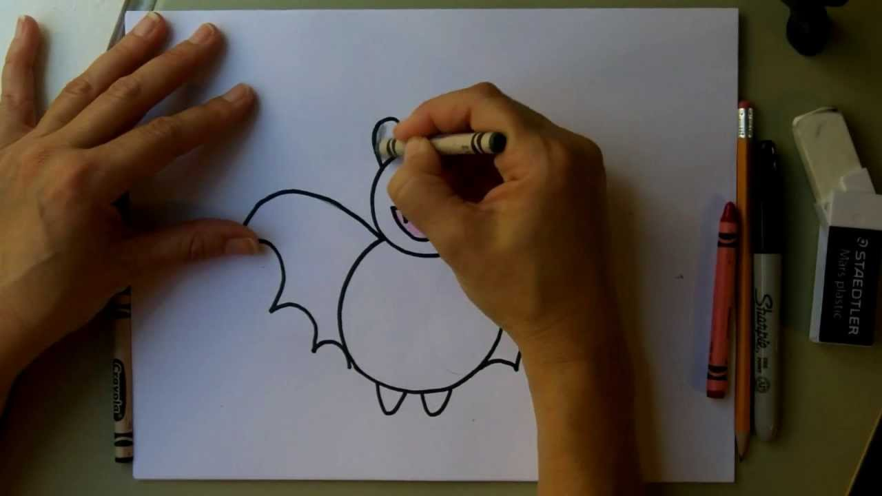 1280x720 How To Draw A Bat! How To Draw A Cute Cartoon Bat And Color It