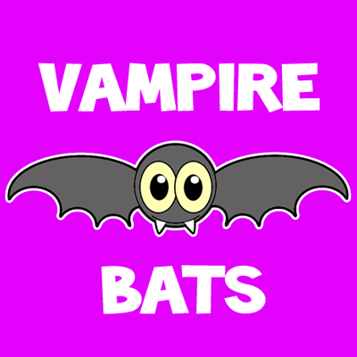 400x400 How To Draw A Cartoon Vampire Bat With Easy Step By Step Drawing