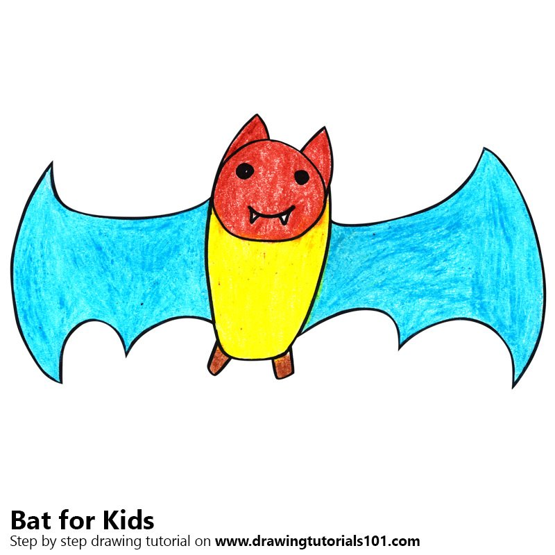 800x800 Learn How To Draw A Bat For Kids (Animals For Kids) Step By Step