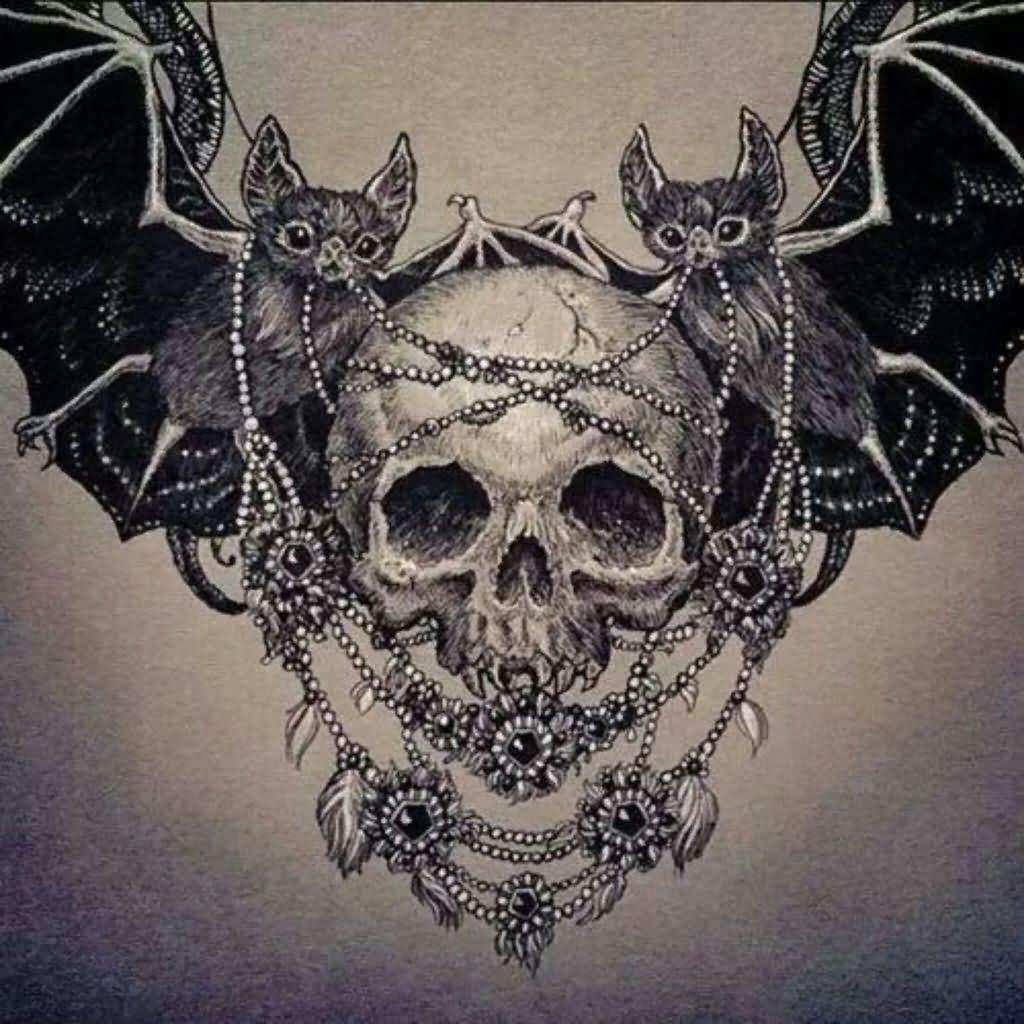 Realistic Flying Bat Tattoo