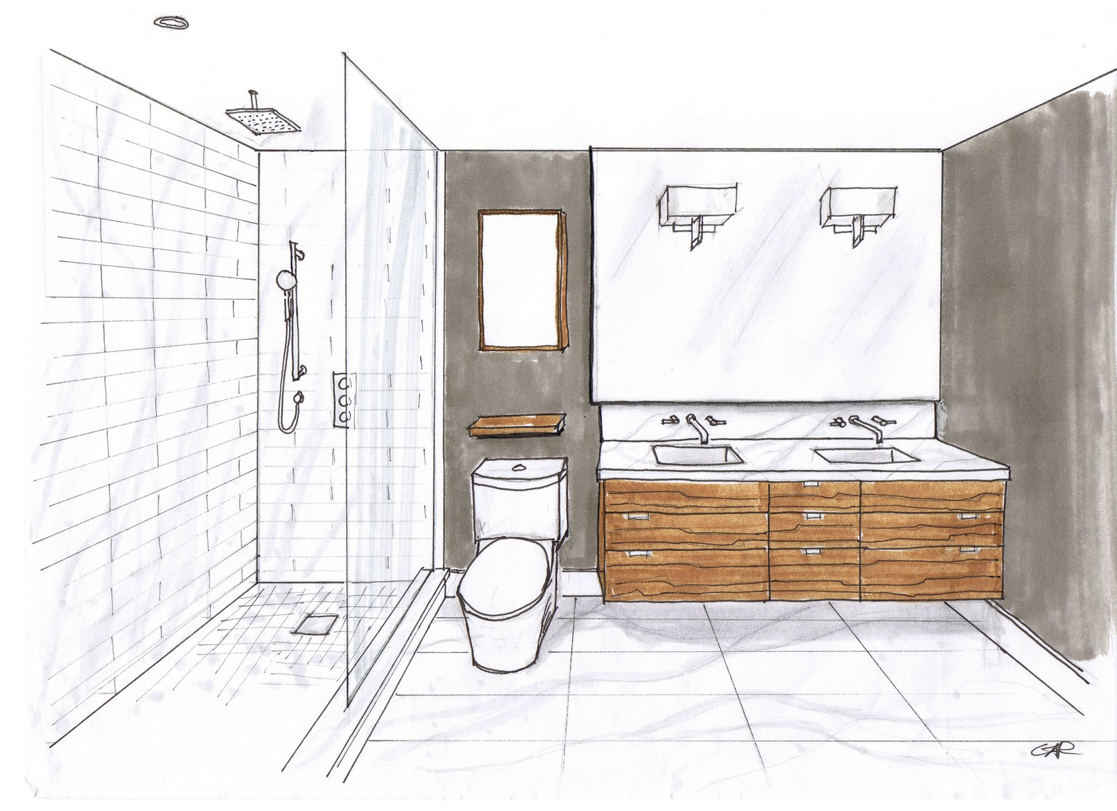 1600x1163 Bathroom Design Drawings Donatz