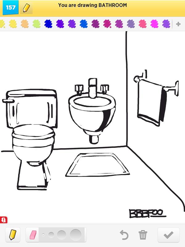 How To Draw A Bathroom. 600x800 Bathroom Drawing