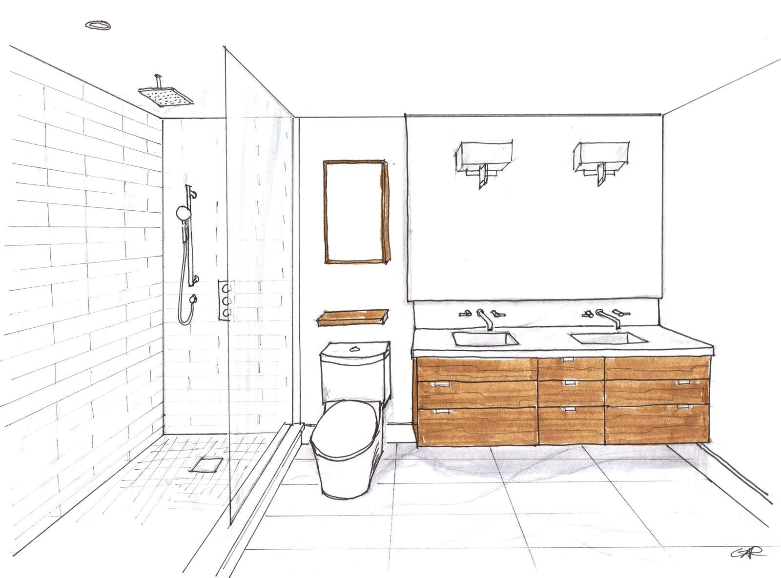 1600x1185 Enchanting Sketch Bathroom Layout Floor Inspiring Small Bathroom