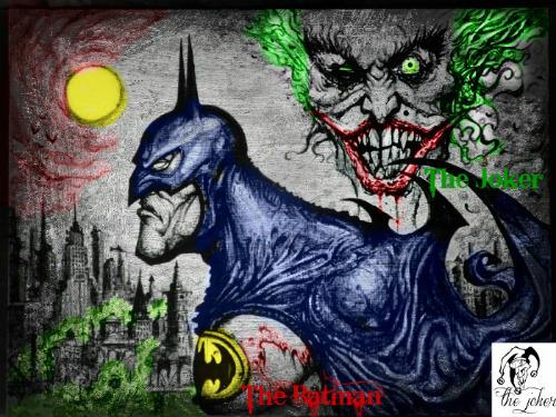 500x375 Batman And Joker Drawing By Jokercrazy