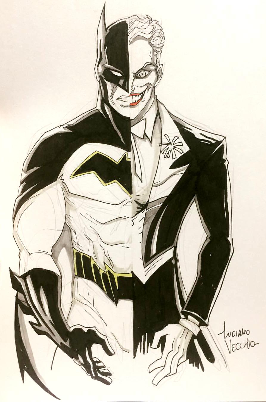 893x1350 Batman V Joker Commission By Lucianovecchio
