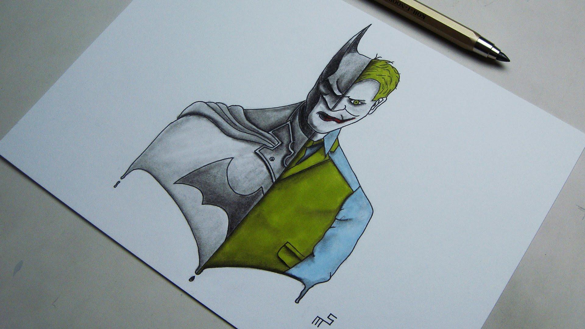 1920x1080 Speed Drawing Batman Vs Joker Artwork