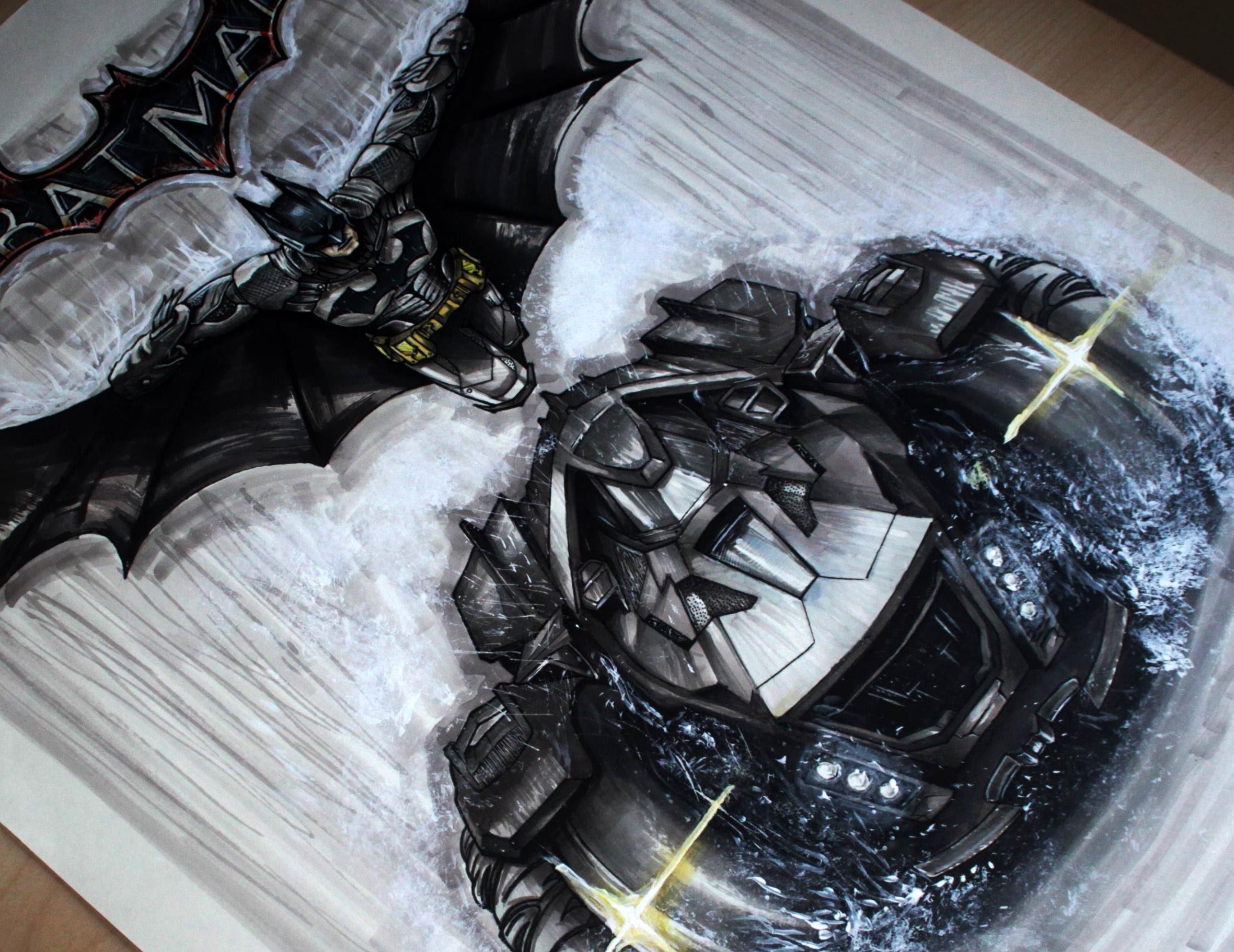 2575x1987 Batman Arkham Knight Artworkdrawing [Fan Art Timelapse] By Fast