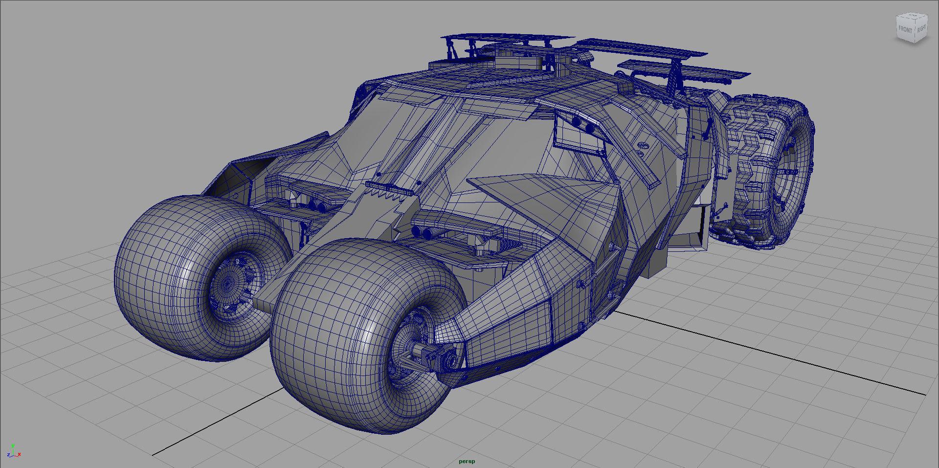 1920x957 3d Asset Bat Man Tumbler Car Cgtrader