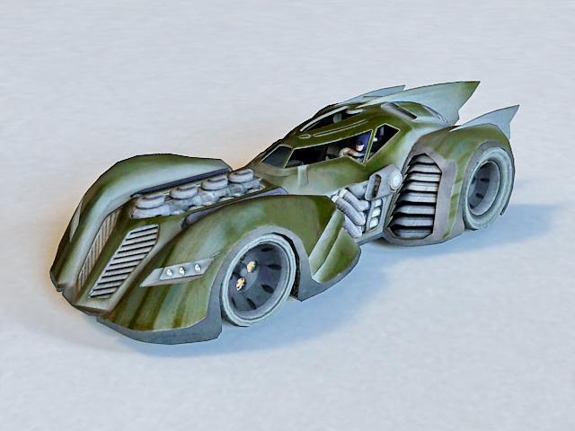 640x480 Batmobile Batman Vehicle 3d Model 3ds Max Files Free Download