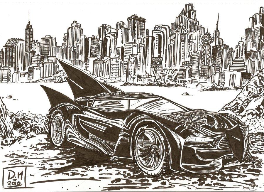 900x654 Batmobile Sketch 1 By Aisu Kaminari