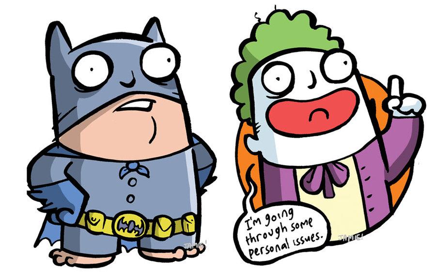 900x567 Batman And Joker By Icanseeyourmonkey