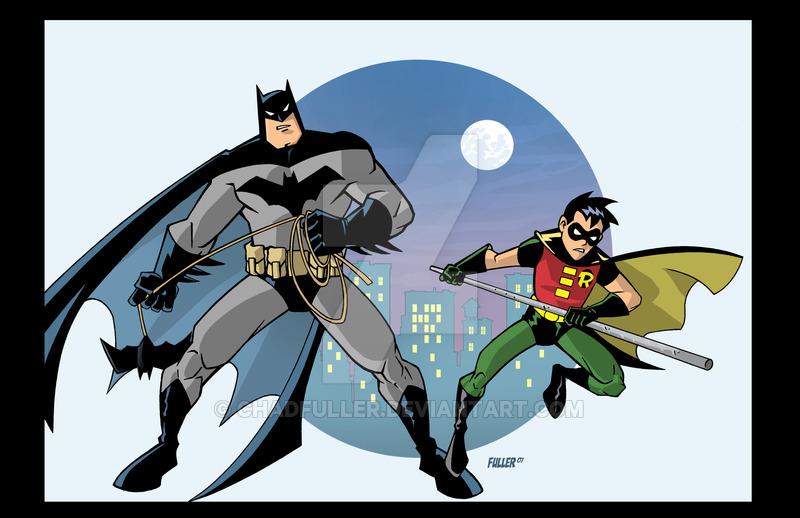 800x518 Batman And Robin Cartoon By Chadfuller