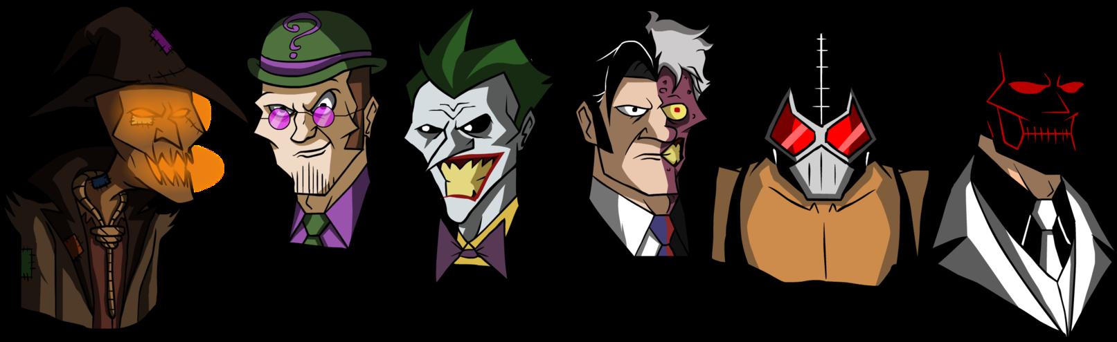 1613x495 Batman Villains In My Own Cartoon Style By Glenorsven