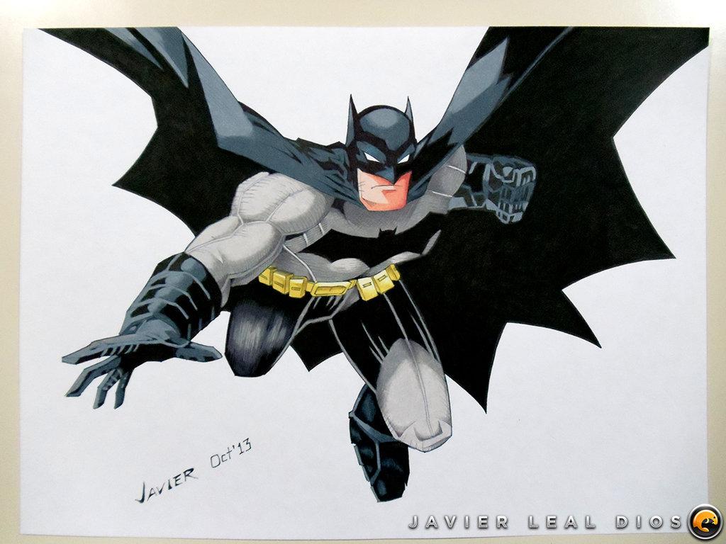 1024x768 Drawing Batman The New 52 By Neokoi