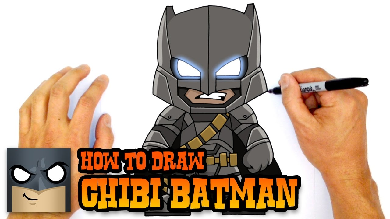 1280x720 How To Draw Chibi Armored Batman Justice League