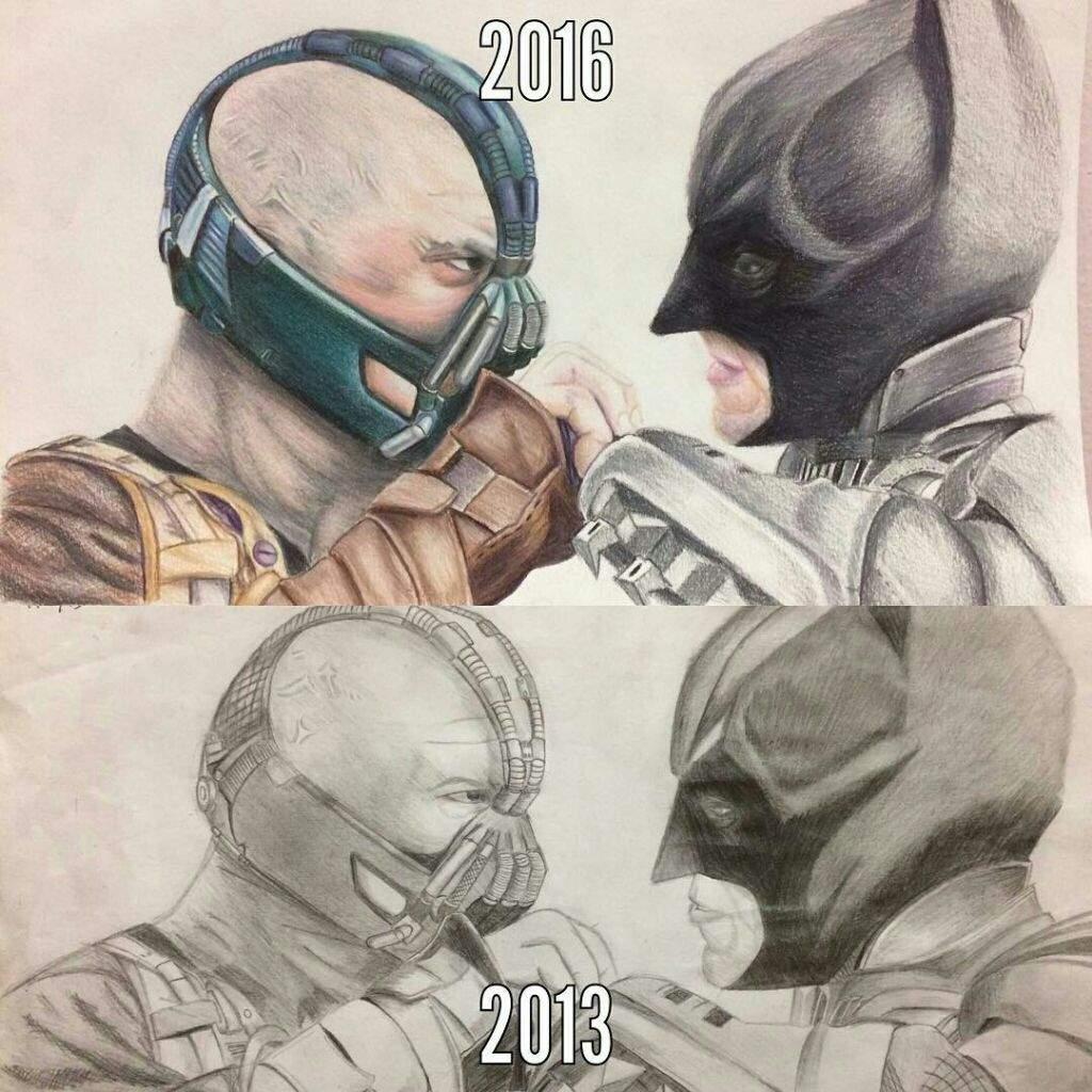 1024x1024 Bane amp Batman Old Drawing vs. New Drawing! Comics Amino