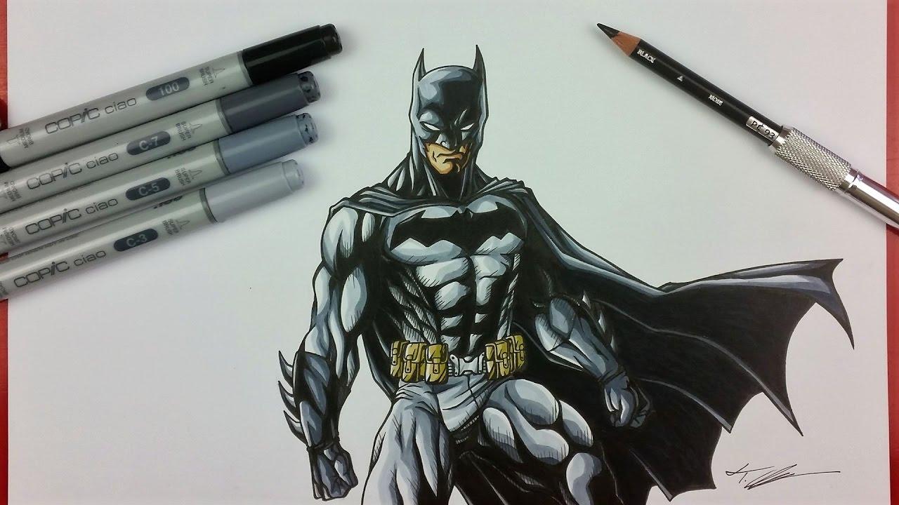 1280x720 Drawing BATMAN DC COMICS TolgArt