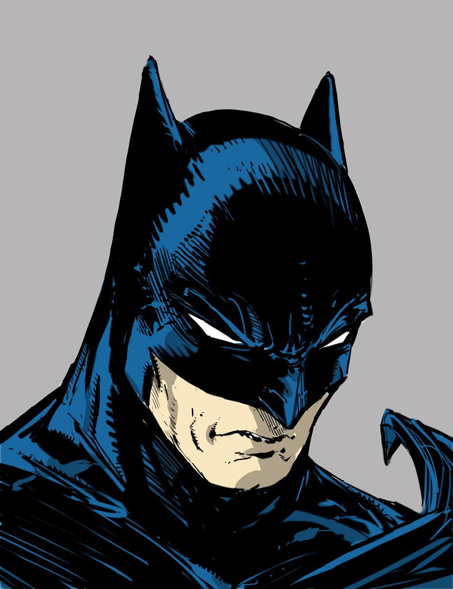 926x1204 Drawing Batman… LIVE!