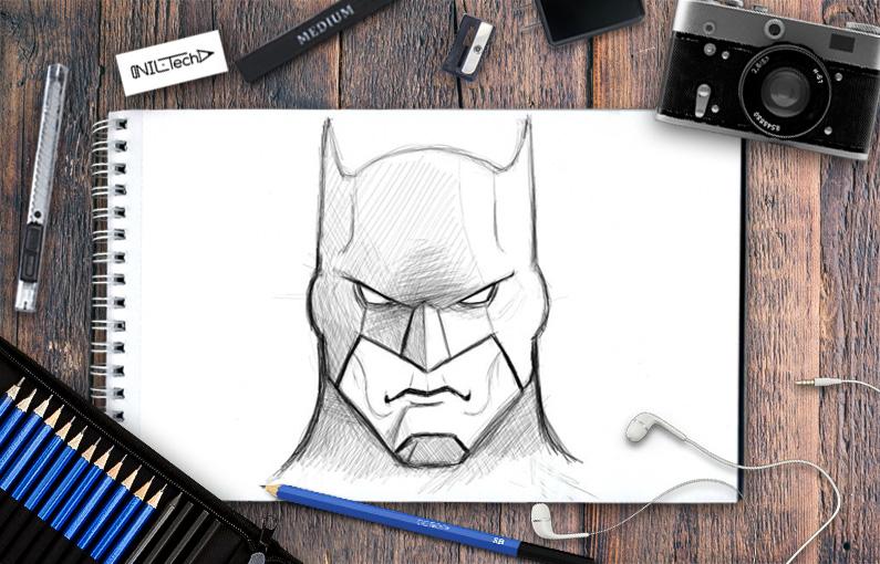 795x510 How to draw Batman Nil Tech