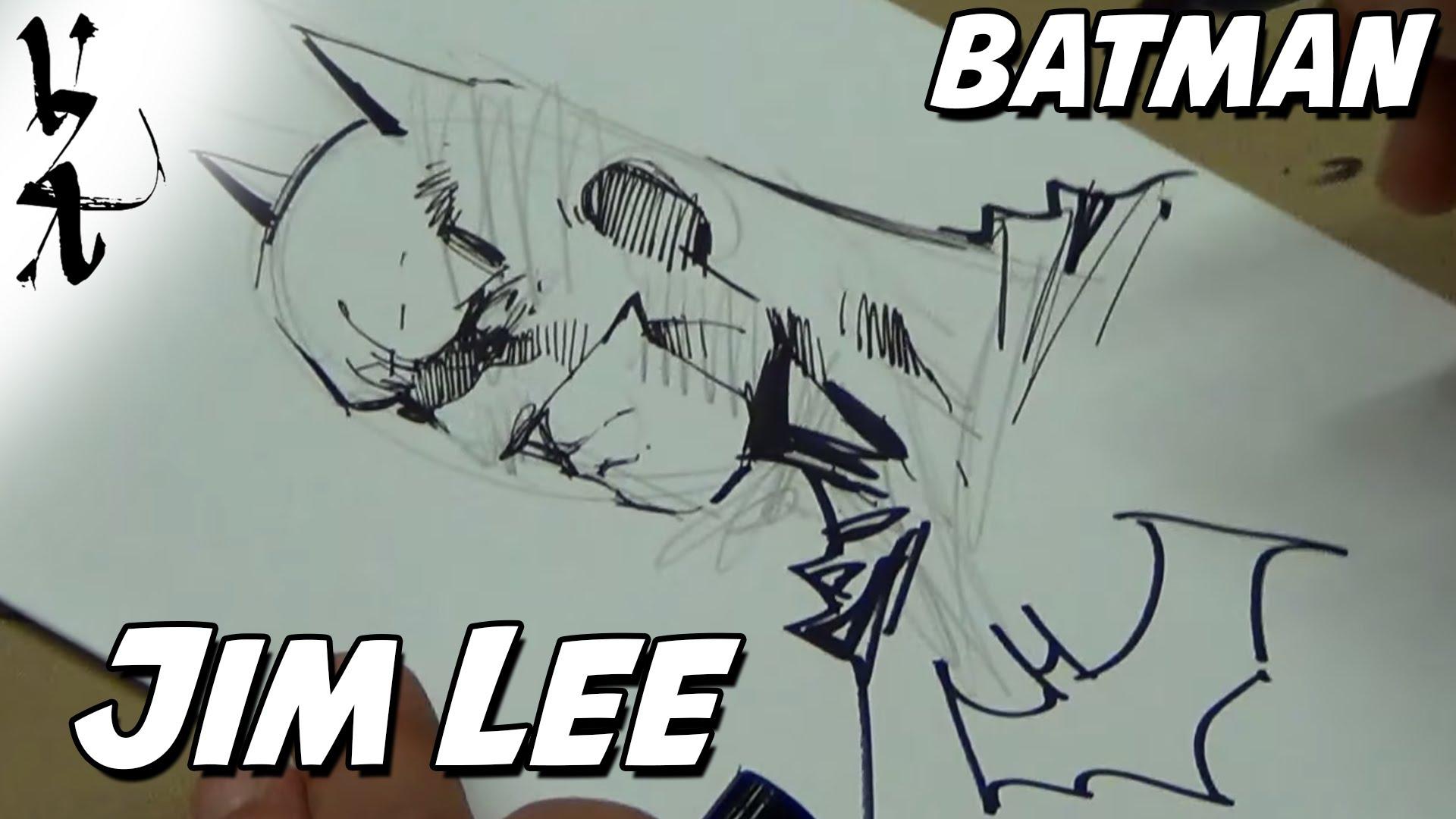 1920x1080 Jim Lee drawing Batman Cover