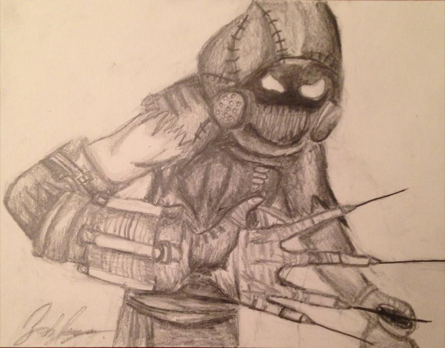 899x703 Scarecrow (Batman Arkham Asylum) Speed Drawing by TheArkhamSage on