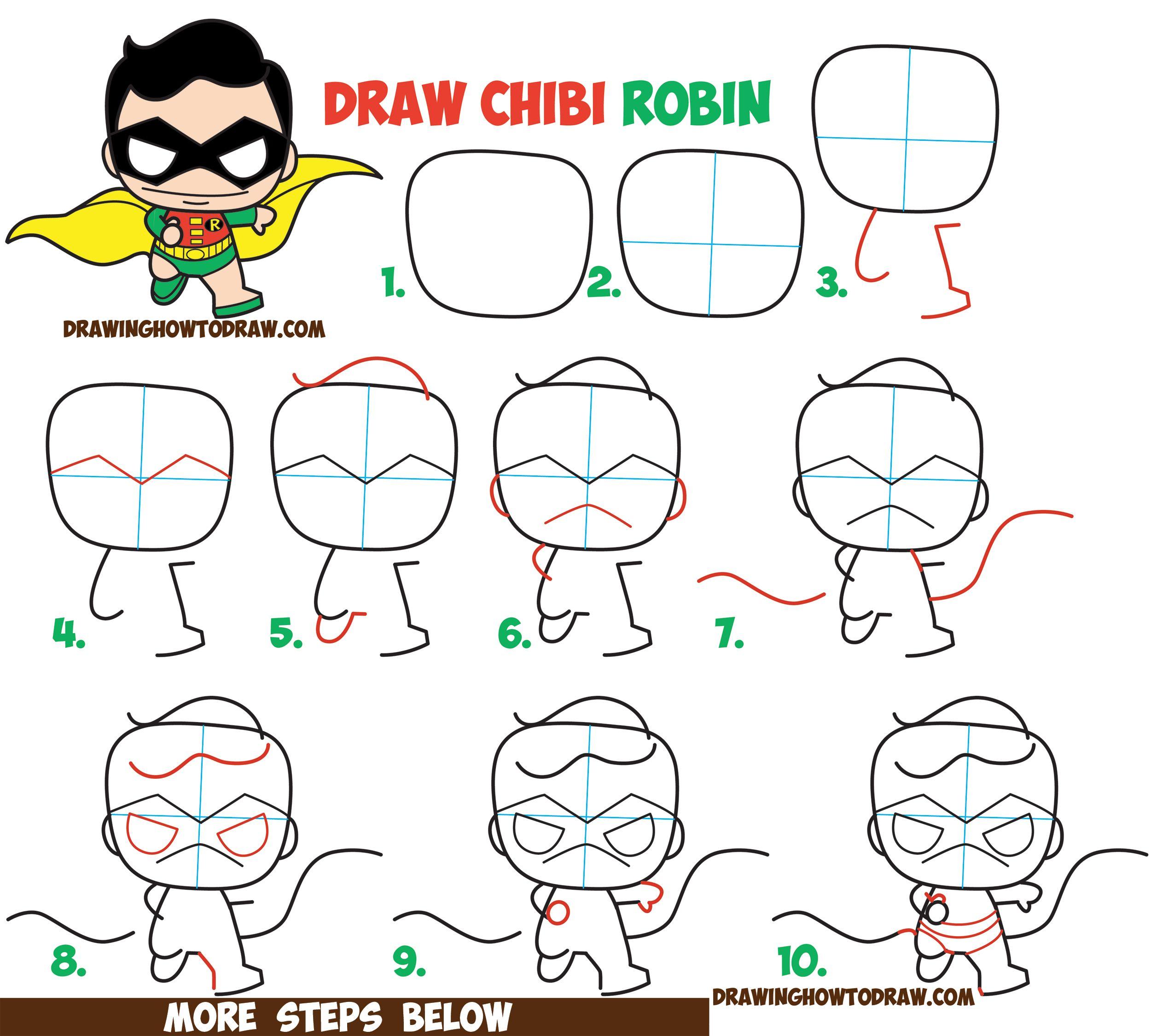 2500x2251 How To Draw Cute Kawaii Chibi Robin From Dc Comics' Batman