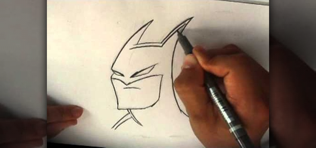 1280x600 How To Draw The Dark Knight Batman Howtodrawfantasy Wonderhowto