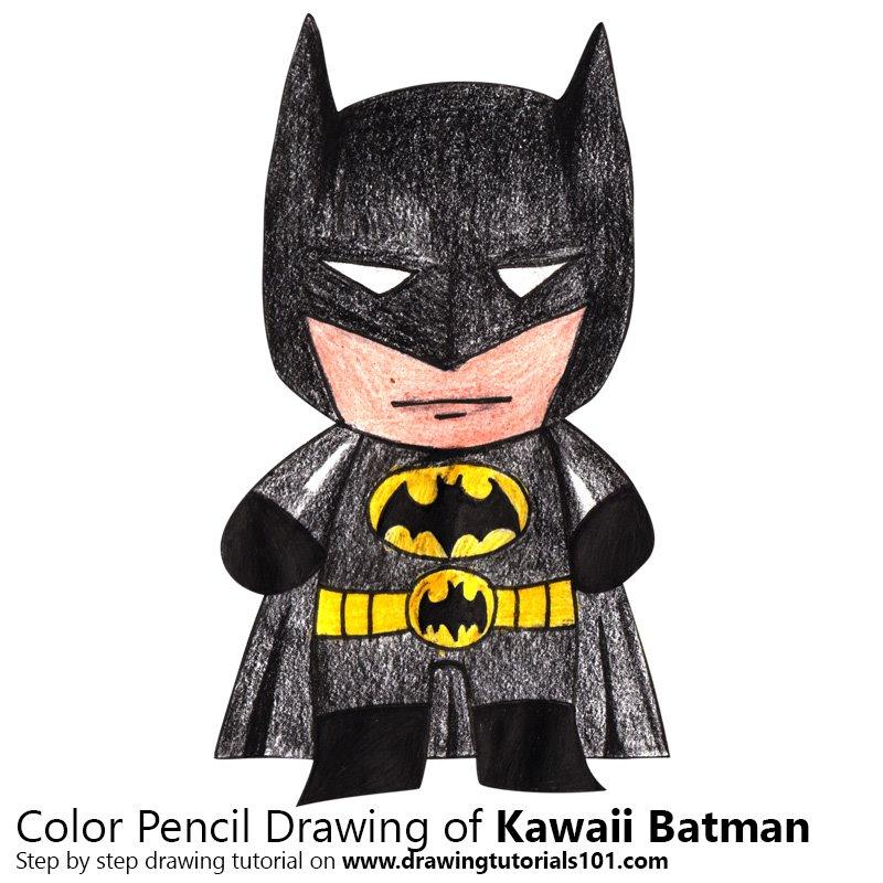 800x800 Kawaii Batman Colored Pencils