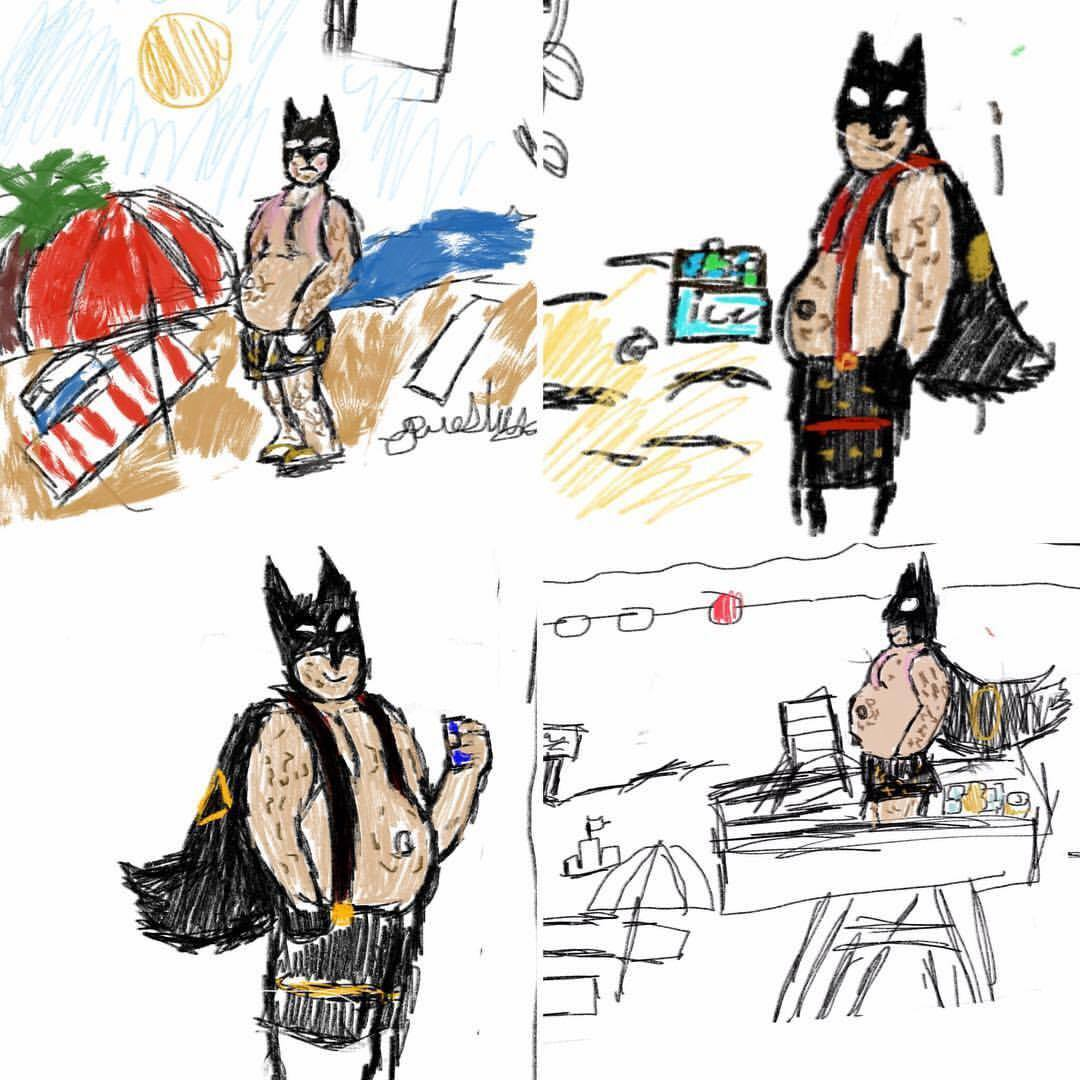 1080x1080 My 11 Year Old Has Started Drawing Fat, Middle Aged Batman