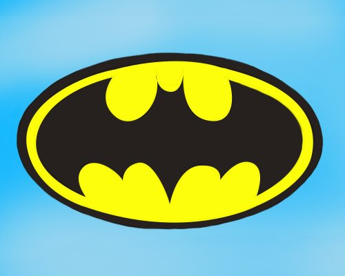 500x400 Learn How To Draw Batman Logo Step By Drawing