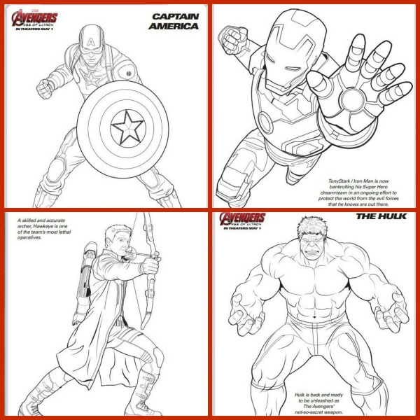 600x600 Plush Avengers Coloring Pages Printable Marvel S The Free