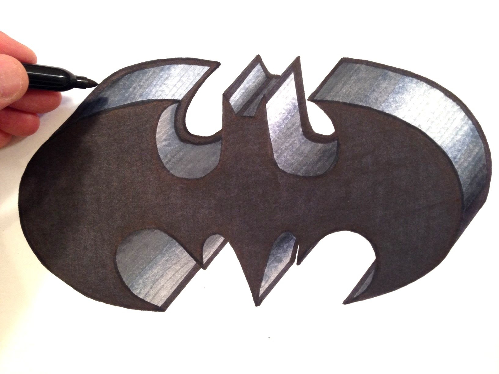 Batman Logo Drawing At Getdrawings Com Free For Personal Use