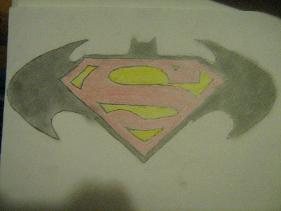 900x675 Awesome Superman Vs Batman Logo Drawing Hd Superman Batman Logo