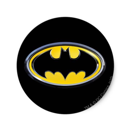 540x540 Batman Symbol Classic Logo Classic Round Sticker