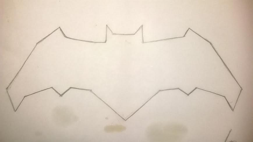 869x488 Ben Affleck Batman Bat Symbol I Drew.ben Affleck By Lrayjus21