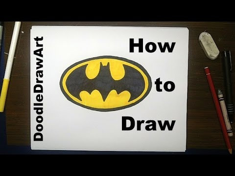 480x360 Drawing How To Draw The Batman Logo