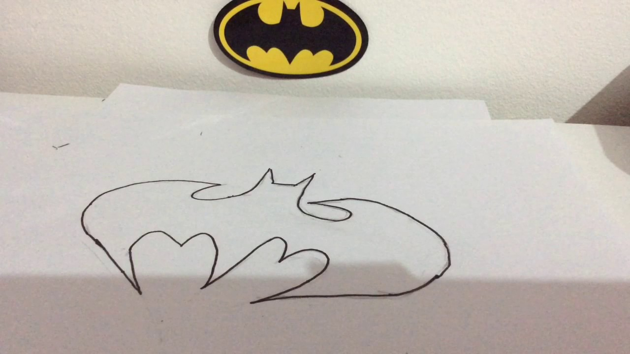 1280x720 How To Draw The Batman Symbol